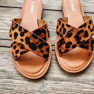 Shoes - Leopard print sandals